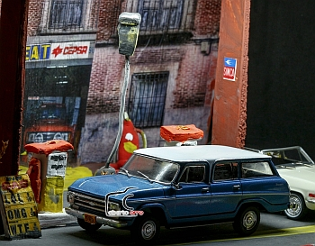 Fotografia diorama coches escala